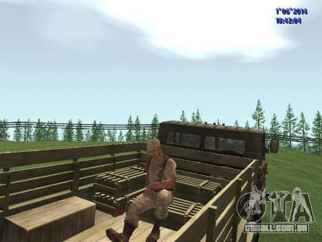Afghanistan Soviet Soldiers para GTA San Andreas por diante tela