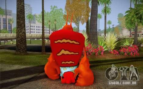 Larry Lagosta (Bob Esponja) para GTA San Andreas segunda tela