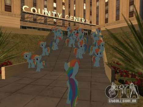 Rainbow Dash para GTA San Andreas quinto tela