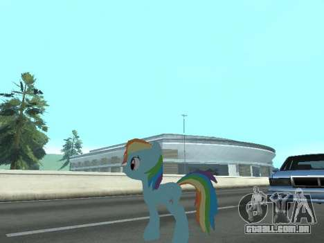 Rainbow Dash para GTA San Andreas sétima tela