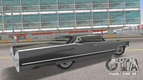 Cadillac DeVille 1967 Lowrider para GTA Vice City deixou vista