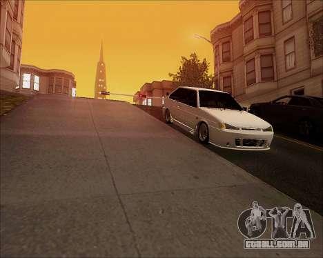 VAZ 2112 Tuneable para GTA San Andreas vista traseira