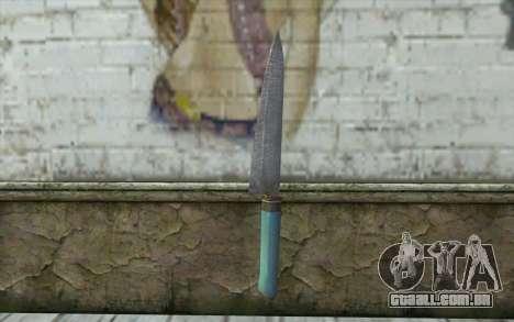 Antiga faca de cozinha para GTA San Andreas