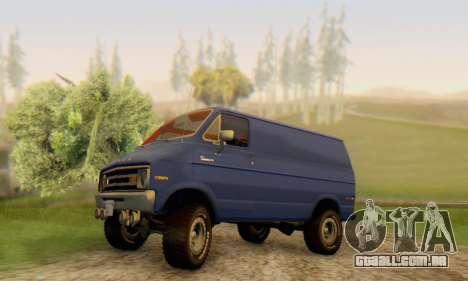 Dodge Tradesman Van 1976 para GTA San Andreas vista inferior