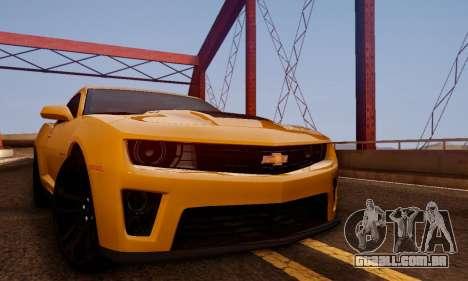 Chevrolet Camaro ZL1 2014 para GTA San Andreas vista direita