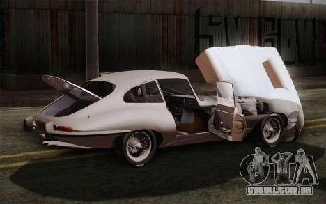 Jaguar E-Type 4.2 para GTA San Andreas vista superior
