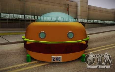Spongebobs Burger Mobile para GTA San Andreas vista direita
