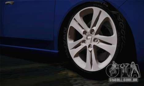 Honda Accord 2010 para GTA San Andreas traseira esquerda vista