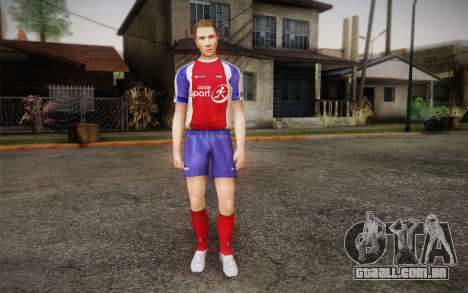 Jogador de futebol para GTA San Andreas