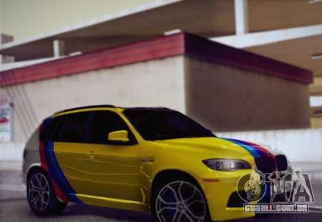 BMW X5M 2013 para vista lateral GTA San Andreas