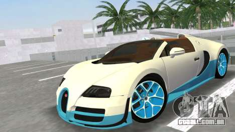 Bugatti Veyron Grand Sport Vitesse para GTA Vice City