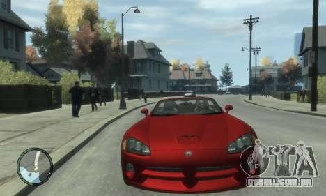 Dodge Viper SRT-10 2003 v2.0 para GTA 4 vista de volta