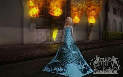 Frozen Elsa para GTA San Andreas segunda tela