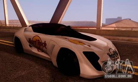 Bertone Mantide 2010 Hard Rock Cafe para GTA San Andreas vista traseira