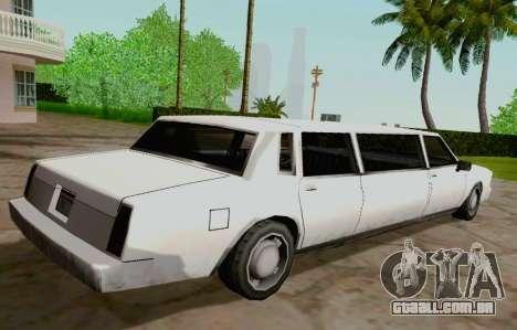 Tahoma Limousine para GTA San Andreas traseira esquerda vista