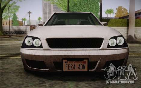 Sultan из GTA 5 para GTA San Andreas vista interior