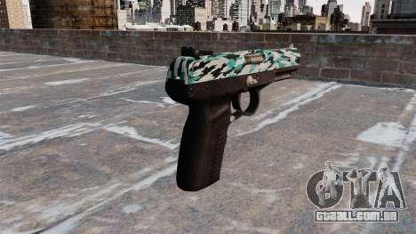 Arma FN Cinco sete Aqua Camo para GTA 4 segundo screenshot