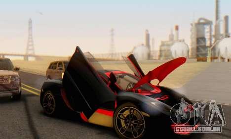 Mclaren MP4-12C Spider Sonic Blum para GTA San Andreas interior