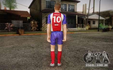 Jogador de futebol para GTA San Andreas segunda tela