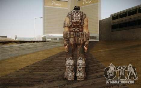 Marcus Fenix из Gears of War 3 para GTA San Andreas segunda tela