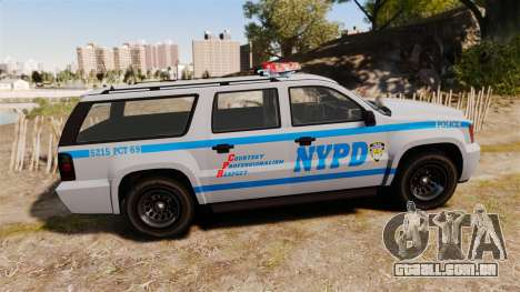 GTA V Declasse Granger NYPD para GTA 4 esquerda vista