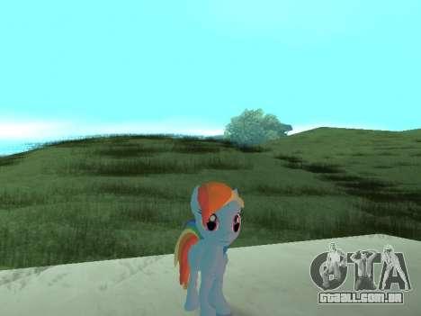 Rainbow Dash para GTA San Andreas terceira tela