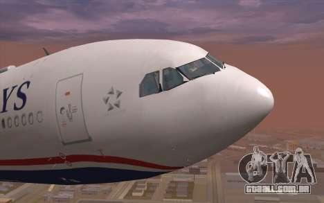 Airbus A330-300 para GTA San Andreas vista interior