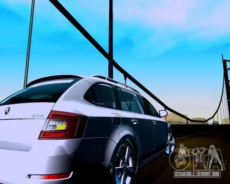 Skoda Octavia A7 Combi para GTA San Andreas vista direita