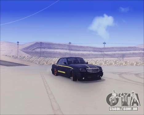 GAZ 31105 Tuneable para GTA San Andreas traseira esquerda vista