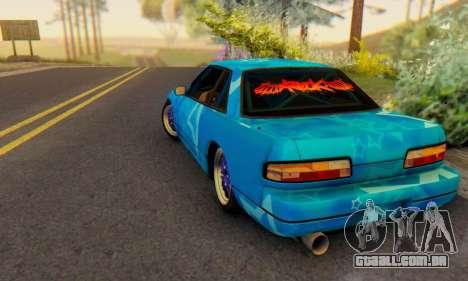 Nissan Silvia S13 Blue Star para GTA San Andreas traseira esquerda vista