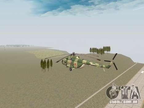 Mi-8T para GTA San Andreas vista direita