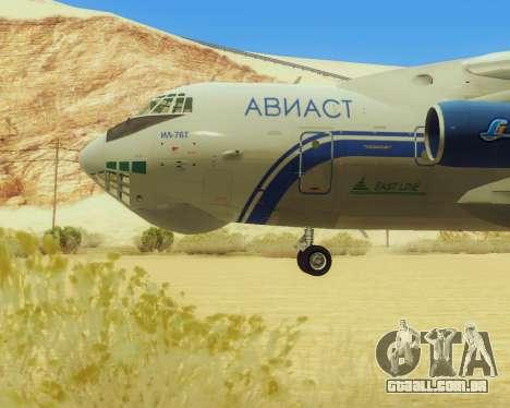 Il-76T AVAST para GTA San Andreas traseira esquerda vista