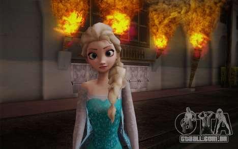 Frozen Elsa para GTA San Andreas terceira tela