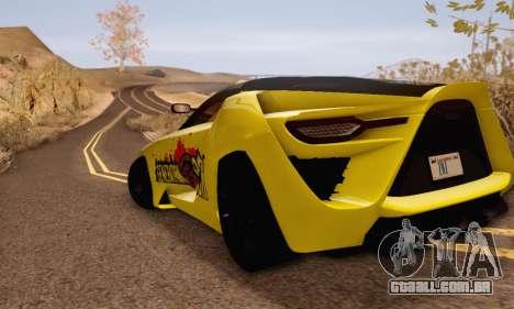 Bertone Mantide 2010 Rock Generation para GTA San Andreas traseira esquerda vista