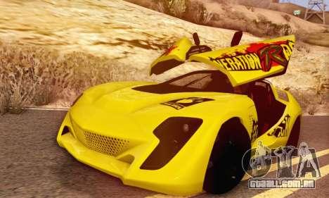 Bertone Mantide 2010 Rock Generation para GTA San Andreas vista traseira