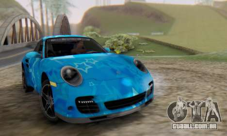 Porsche 911 Turbo Blue Star para GTA San Andreas