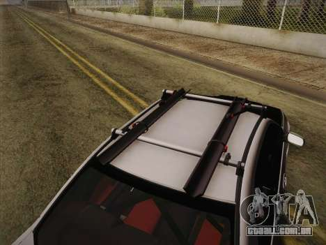 Subaru Impreza Hellaflush para GTA San Andreas vista traseira
