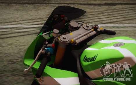 Kawasaki ZX-10R Ninja para GTA San Andreas vista traseira
