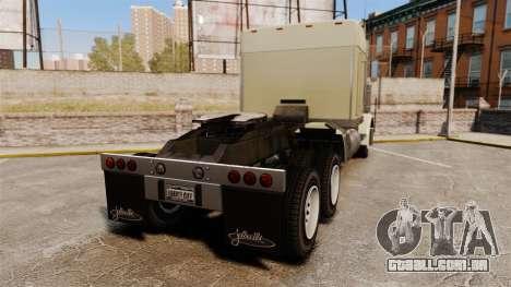 GTA V JoBuilt Phantom para GTA 4 traseira esquerda vista