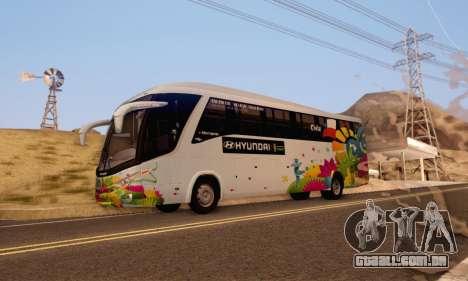 Marcopolo Paradiso 1200 Brazil Fifa World Cup para GTA San Andreas esquerda vista
