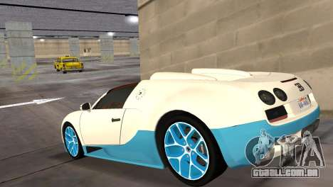 Bugatti Veyron Grand Sport Vitesse para GTA Vice City deixou vista
