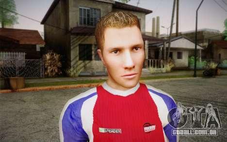 Jogador de futebol para GTA San Andreas terceira tela