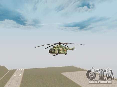 Mi-8T para GTA San Andreas traseira esquerda vista