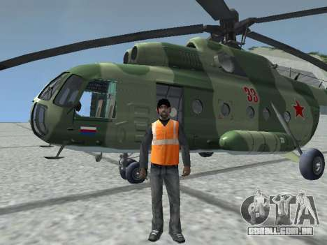 Mi-8T para GTA San Andreas esquerda vista