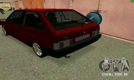 VAZ 2108 Turbo para GTA San Andreas vista traseira