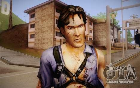 Ash Williams из Evil Dead Regeneração para GTA San Andreas terceira tela