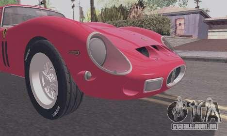 Ferrari 250 GTO 1962 para GTA San Andreas vista direita