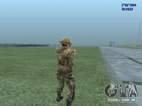 O airborne soldado da URSS para GTA San Andreas por diante tela