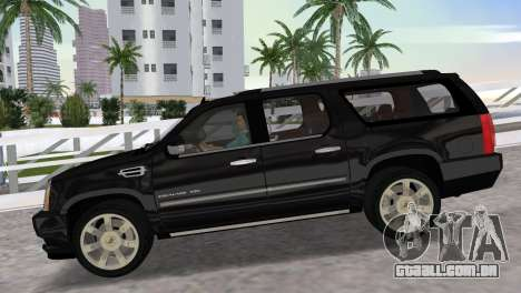 Cadillac Escalade ESV Luxury 2012 para GTA Vice City vista direita