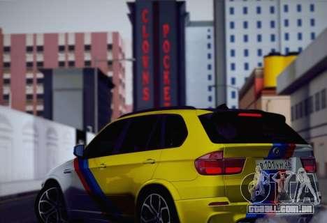 BMW X5M 2013 para GTA San Andreas interior